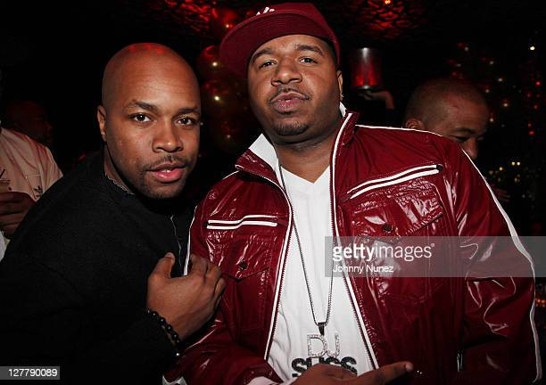 DJ DNice and DJ SussOne attend Chris Lighty's birthday party at Juliet on May 8 2011 in New York City