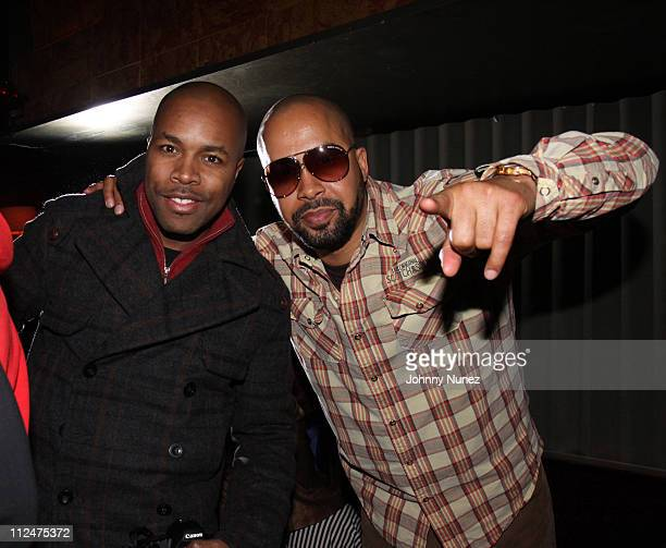 DNice and Kenny Burns attend the launch of VIBE's 2009 Vsessions LIVE At Joe's Pub on February 25 2009 in New York City