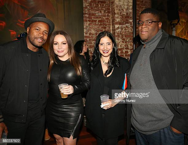 DNice Angie Martinez Laura Stylez and Salaam Remi attend the Angie Martinez My Voice A Memoir Book Launch Party on May 17 2016 in New York City