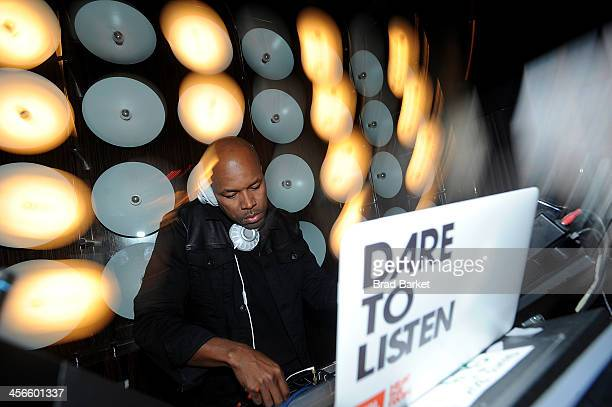 Nice attends the JBL 'Dare to Listen' Synchros S700 Headphone New York City Launch With DJ DNice at Dream Hotel on December 14 2013 in New York City