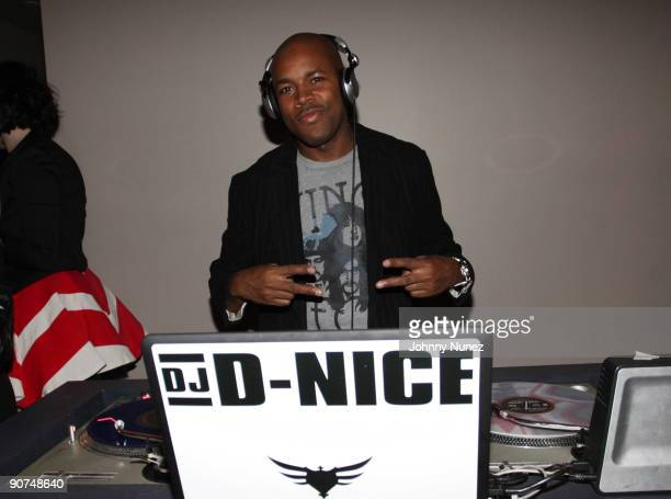 Nice attends the Lyor Cohen Warner Brothers and Atlantic Records VMA after party at Abe Arthur on September 13 2009 in New York City