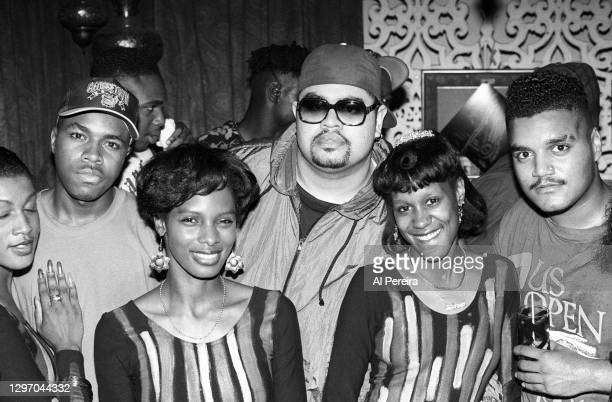 """Nice, Heavy D, Chip Fu and Zhane members Jean Norris-Baylor and Renee Neufville attend an album-release party for A Tribe Called Quest's """"The Low End..."""
