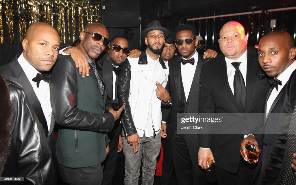 Nice, Jabbar, Slow Bucks, Swizz Beatz, Lenny S., Fabolous, Shawn Pecas and Ruggs attend Fabolous' The Great Fabsby Birthday Celebration at Jazz Room at the General on November 18, 2013 in New York City.