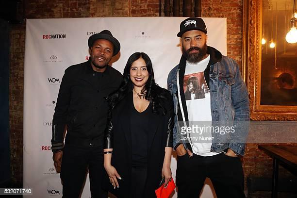 DNice Laura Stylez and Ebro Darden attend the Angie Martinez My Voice A Memoir Book Launch Party on May 17 2016 in New York City