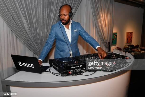 Nice performs at IMPACT Strategies and DP Creative Strategies Tech Media day party and brunch at Longview Gallery on September 14 2018 in Washington...