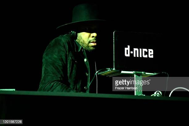 Nice performs onstage during Spotify Hosts Best New Artist Party at The Lot Studios on January 23 2020 in Los Angeles California
