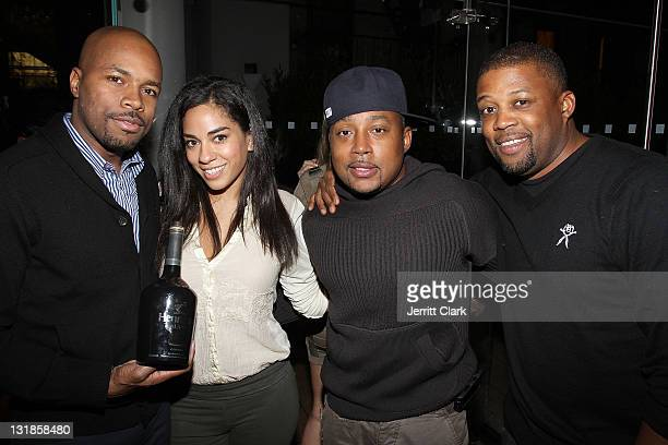 Nice Sharon Carpenter Damon John and Chuck Bone attend a Hennessey Black party to celebrate DJ DNice signing to Roc Nation DJ's at The Cooper Square...