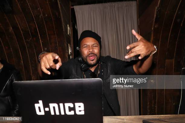 Nice spins at the Def Jam Christmas Party at 1OAK on December 10 2019 in New York City
