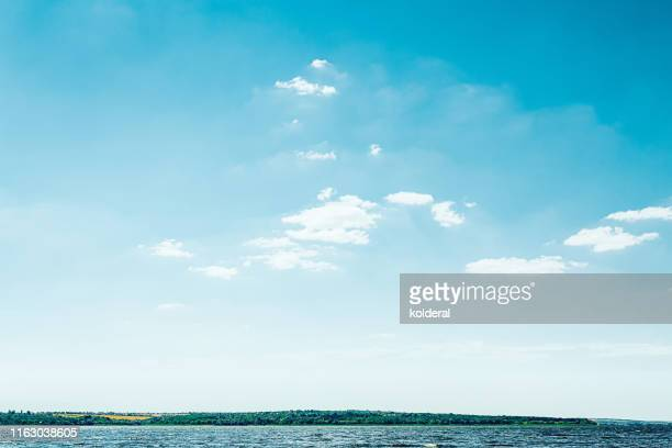 dnieper river at midday - riverbank stock pictures, royalty-free photos & images