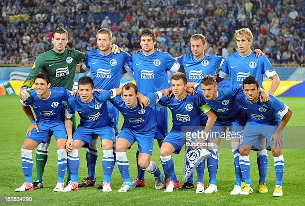 Dnipro Dnipropetrovsk team group taken prior to the UEFA Europa League group stage match between FC Dnipro Dnipropetrovsk and PSV Eindhoven on...