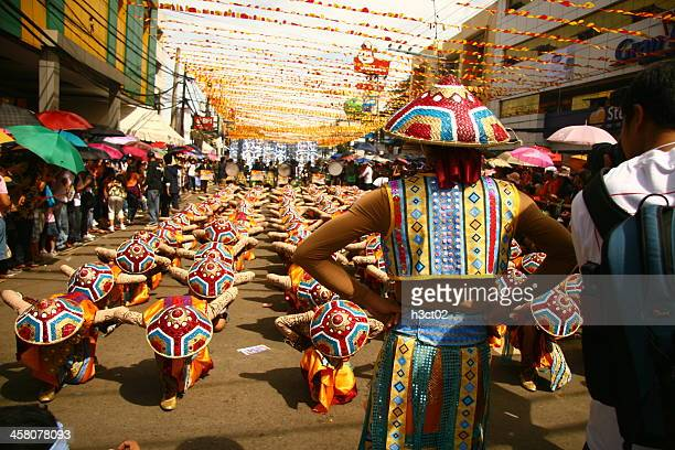 do as i say... - sinulog festival stock photos and pictures