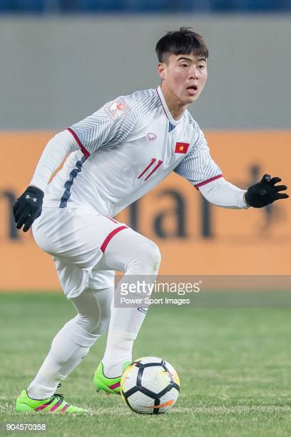 Do Duy Manh of Vietnam in action during the AFC U23 Championship China 2018 Group D match between South Korea and Vietnam at Kunshan Sports Center on...