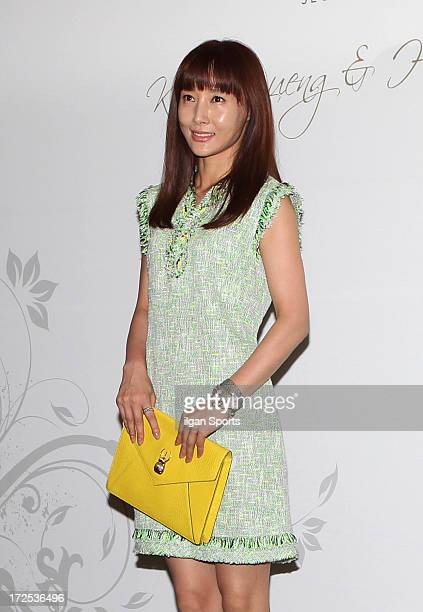 Do JiWon attends Han HyeJin and Ki SungYueng wedding at Intercontinental hotel on July 1 2013 in Seoul South Korea