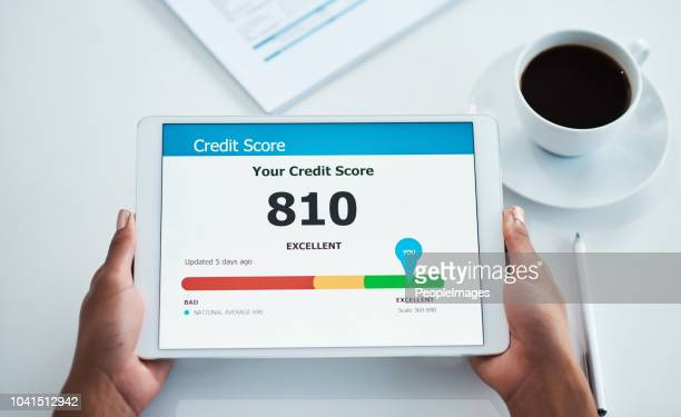 do more with a good credit score - segnare foto e immagini stock