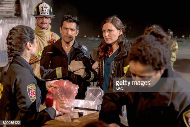 SHIFT 'Do No Harm' Episode 403 Pictured Trina Siopy as Paramedic Sara Howard Ferguson as Firefighter Mark Consuelos as Cain Diaz Jill Flint as Jordan...
