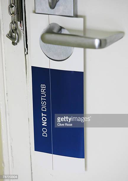 A 'Do not disturb' sign hangs in a guest room at the Pegasus Hotel in Jamaica where Pakistan Coach Bob Woolmer was found dead a week ago March 27...