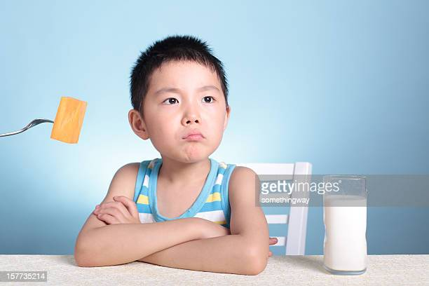do not eat vegetables boy - underweight stock pictures, royalty-free photos & images