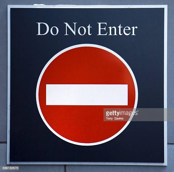 A 'Do Not Enter' sign
