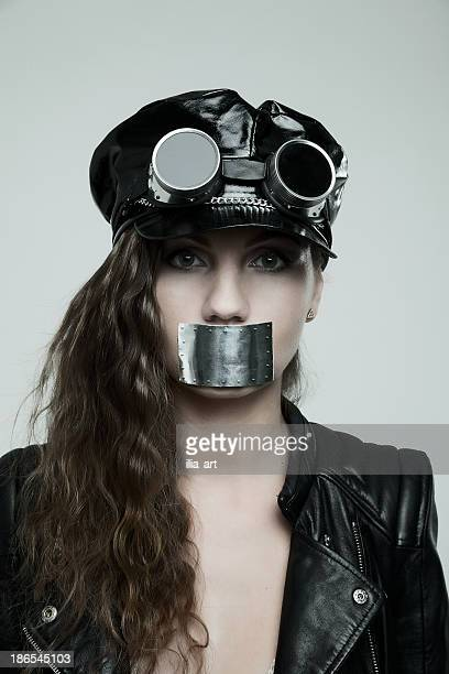 do not talk! - gagged black stock pictures, royalty-free photos & images