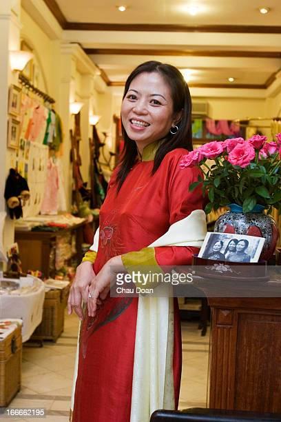 Do Thanh Huong owner of the Tan My shop at 66 Hang Gai Street Hanoi