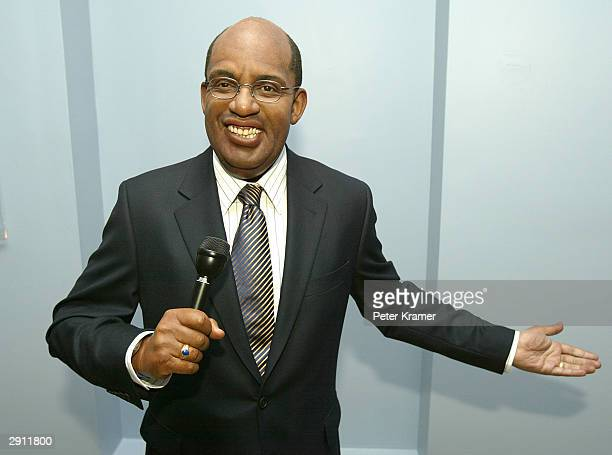 Do The Weather With Al interactive wax figure launches at Madame Tussauds New York January 29 2004 in New York City