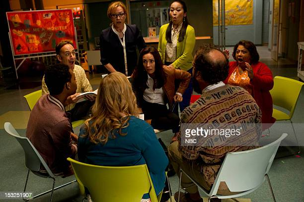 GO ON 'Do You Believe in Ghosts Yes' Episode 104 Pictured Julie White as Anne Laura Benanti as Lauren Suzy Nakamura as Yolanda