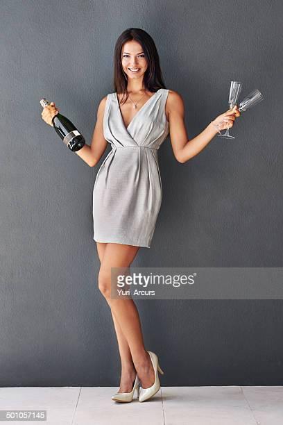 Möchten Sie mir helfen Ende dieses Champagner?