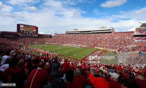 Doak S Campbell Stadium during the first half of an NCAA football game at Doak S Campbell Stadium on October 7 2017 in Tallahassee Florida