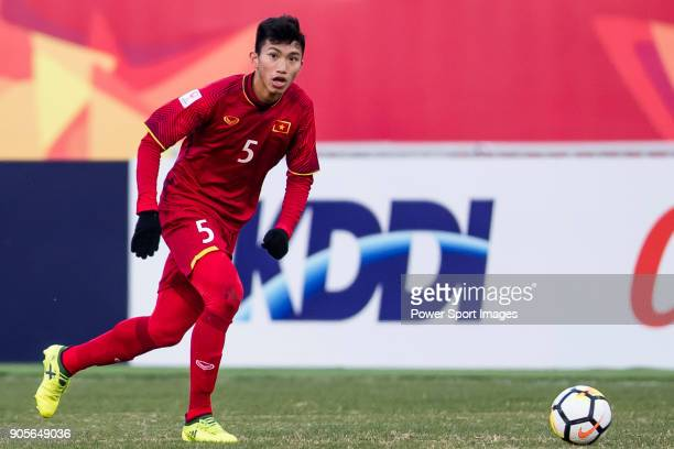 Doan Van Hau of Vietnam in action during the AFC U23 Championship China 2018 Group D match between Vietnam and Australia at Kunshan Sports Center on...