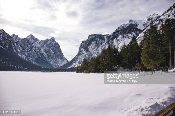 dobbiaco in inverno - toblach stock photos and pictures