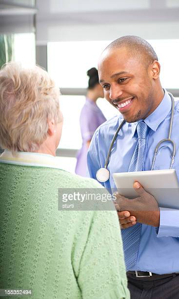 doc chatting to senior lady