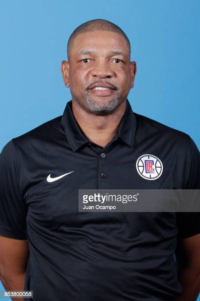 Doc Rivers head coach of the Los Angeles Clippers poses for a portrait during 2017 Media Day on September 25 2017 at the Los Angeles Clippers...