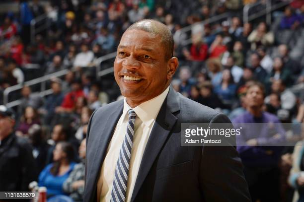 Doc Rivers of the LA Clippers seen prior to the game against the Indiana Pacers on March 19 2019 at STAPLES Center in Los Angeles California NOTE TO...