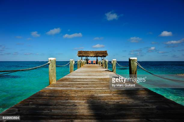 dock and hut, new providence, bahamas - bahamas stock pictures, royalty-free photos & images