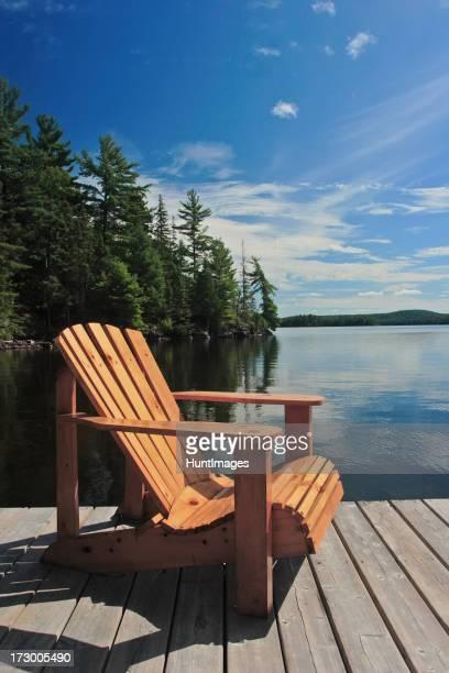 Dock Stuhl in der Sonne