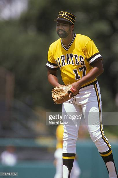 Dock Ellis of the Pittsburgh Pirates pitches during a baseball old timers game on August 1 1989 at Memorial Stadium in Baltimore Maryland