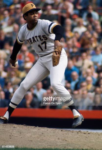 Dock Ellis of the Pittsburgh Pirates pitches during the World Series against the Baltimore Orioles at Memorial Stadium on October 1971 in Baltimore,...