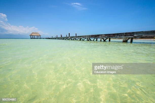 Dock in a beach of Isla Holbox Quintana Roo Mexico