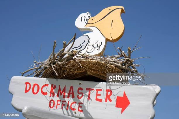 A dock master office sign at Fort Pierce City Marina