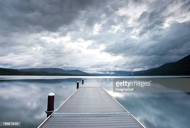 Dock With Storm Clouds