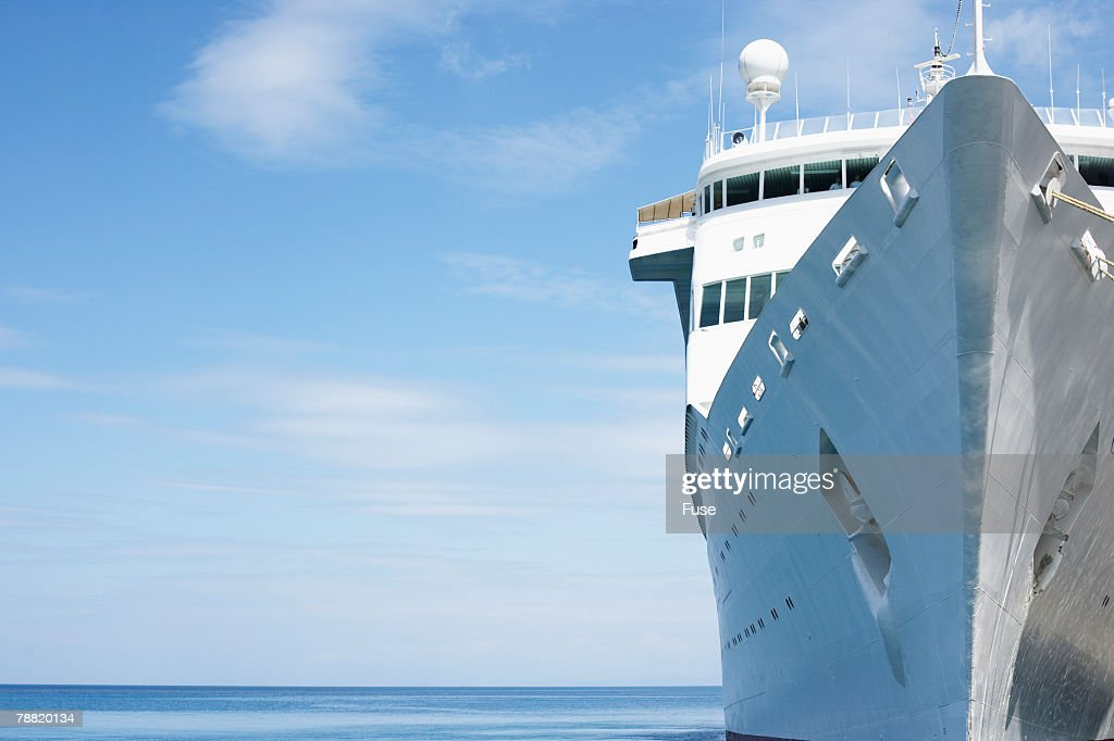 Docked Cruise Ship : Stock Photo
