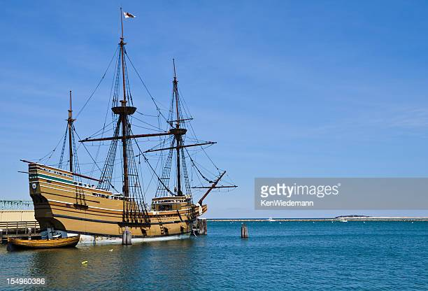 docked in plymouth - plymouth massachusetts stock photos and pictures