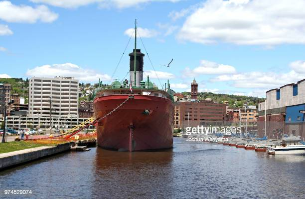Docked ship in Duluth, MN