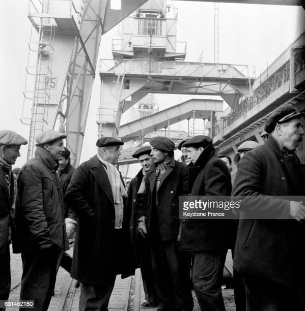 Dockers sur le port de Marseille France en 1955
