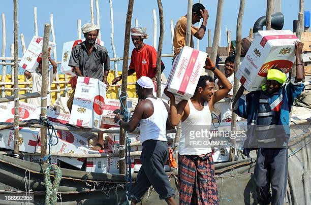 Dockers unload a cargo on November 30 2008 in Djibouti harbour The poor Red Sea state of Djibouti with a population of some 700 provides a key...