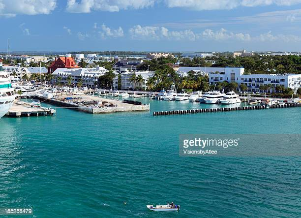 docking at key west florida - key west stock photos and pictures