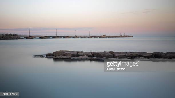 docking peninsula and water barrier - alma danison stock photos and pictures