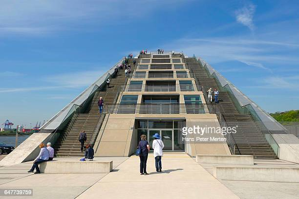 dockland building, hamburg-altona - number of people stock pictures, royalty-free photos & images