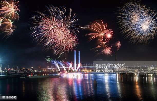 Dockland fireworks festival 2015, Melbourne.