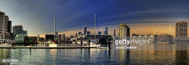 Docklands city skyline panorama